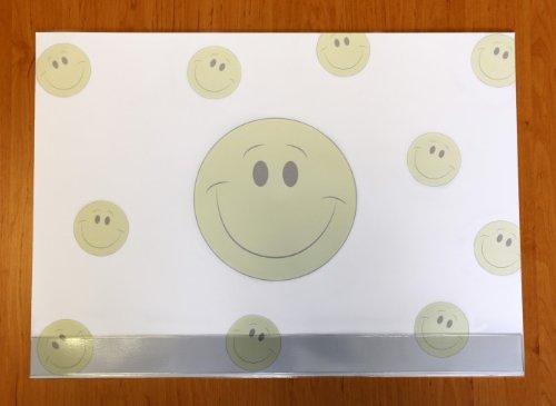 Schreibtischunterlage Papier mit Schutzleiste Smiley/Smilies 25 Blatt 59,4 x 42 cm 90g-Papier