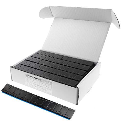 SCHWARZ Auswuchtgewichte 12x5g für Alufelgen Black Kleberiegel mit Abrißkante Verzinkt Klebegewichte 60g Stahlgewichte 50 Stück 3KG