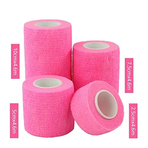 LiQinKeJi8 Vendaje Flexible, 1pcs Auto Adhesivo Vendaje de la Cinta del músculo articulaciones de los Dedos Wrap Botiquín de Primeros Auxilios for Mascotas Vendaje elástico 2.5-10cm