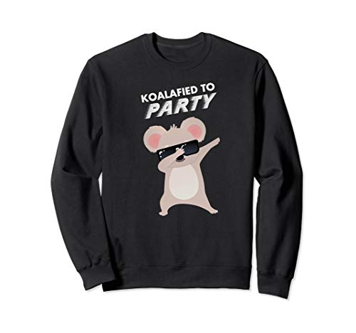 Koalafied To Party Funny Dabbing Animal Pun Sweatshirt