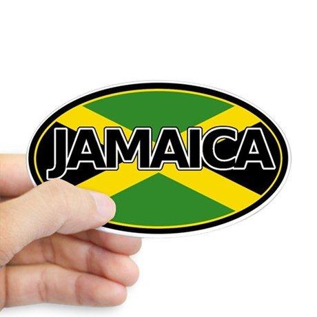 """3/"""" x 12/""""  Jamaica Bumper Sticker Jamaica Flag"""