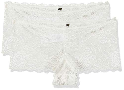 ONLY Damen onlCHLOE LACE Brief 2-Pack Acc Panties, Weiß (Cloud Dancer), 38 (Herstellergröße:M) (2er Pack)