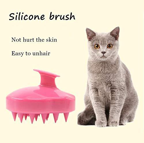 Pet Kat Borstel met Ultra Zachte Siliconen Pinnen, Haar Hoofdhuid Masseren Shampoo Borstel, Wasbare Verzorging Kam voor Mannen Vrouwen Kids Huisdier R