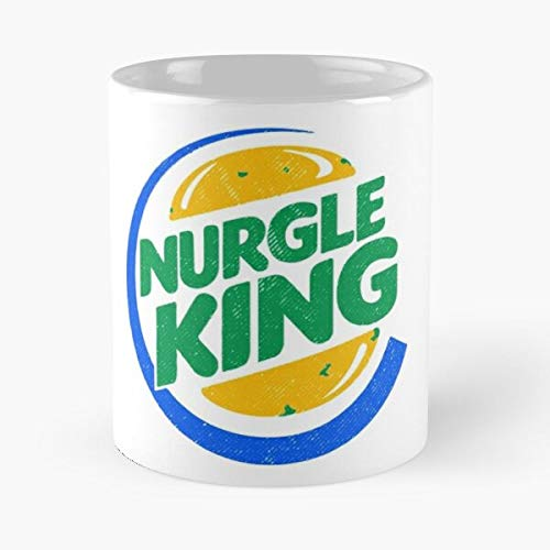 Humans Human Bowl Orcs Orc Bloodbowl NAF Blood Nuffle La mejor taza de café de cerámica blanca de 11 oz