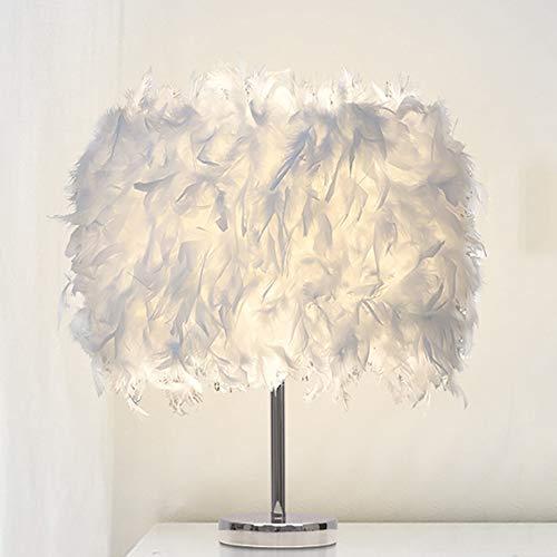 ALLOMN LED Nachttischlampe, Moderne Minimalistische Lampe Vintage Elegante Nachttischlampe Federtischlampe, Schaltersteuerung, E27 Glühbirne (Nicht enthalten), EU Stecker