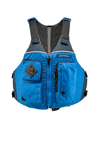 Astral Ronny Life Jacket PFD for Recreation, Fishing, and Touring Kayaking, Ocean Blue, M/L