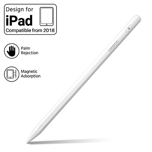 URSICO Stylus Pen 2.Generation für iPad, Active Stift 1,7 mm Feinspitze mit Palm Rejection & Magnetic Adsorption für iPad(6./7.Gen), iPad Air(3.Gen), iPad Mini(5.Gen), iPadPro 11