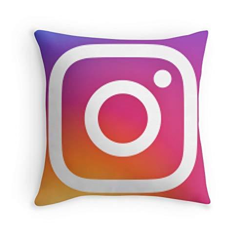 HOJJP Federa Instagram (Logo) per Divano Living Room Bed Decorative (Square 20 x 20)