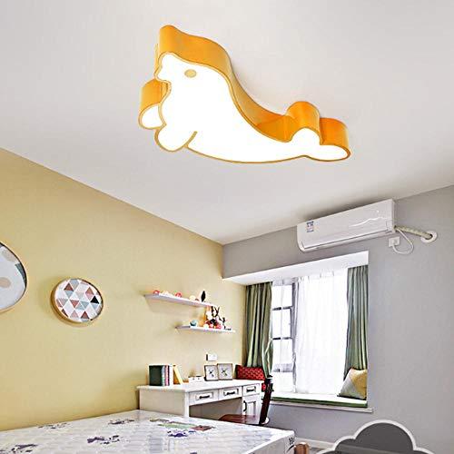 Home Creative Early Learning Plafonniers Maternelle Garçons Et Filles Dessin Animé Sceau Éclairage Led Jaune Lampe De Plafond
