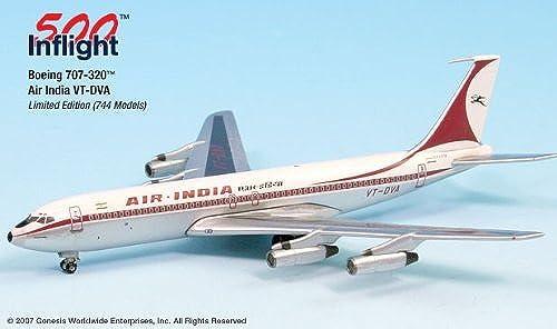 Air India VT-DVA 707-300 Airplane Miniature Model Metal Die-Cast 1 500 Part A015-IF5707004