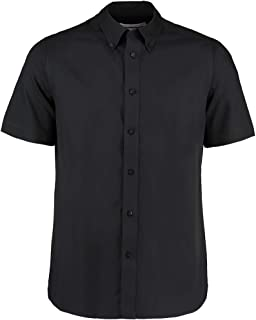 Lilas Kustom Kit KK109 Homme Chemise à manches courtes office Casual travail mariage