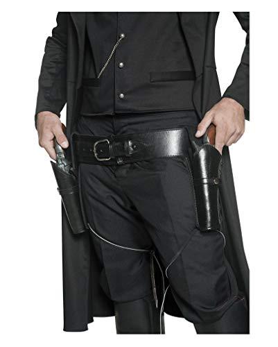 Horror-Shop Holster mit Gürtel schwarz
