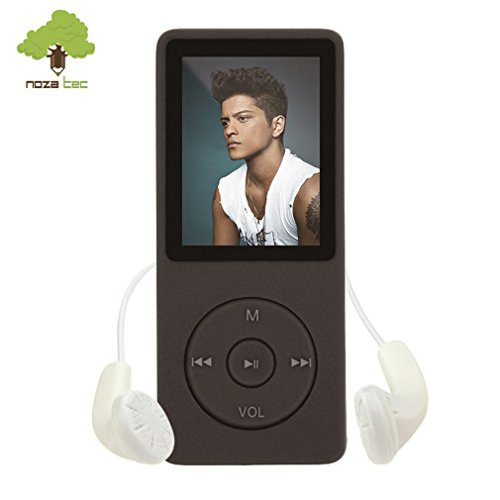 NOZA TEC LCD 16GB MP3 MP4 Video Stereo e-Book Musica Radio FM Nero