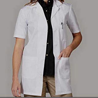 PrimeSurgicals Poly cotton Women's Lab Coat With 100 Days Warranty Half Sleeves