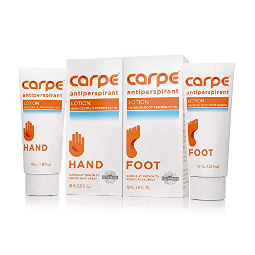 Carpe Antiperspirant Hand and Foot Lotion Package Deal (1 Hand...