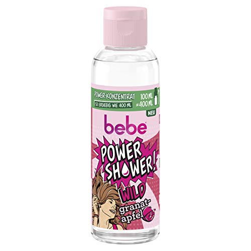 bebe POWER SHOWER - WILD Granatapfel Duschgel - 1 x 100ml Power-Konzentrat 1er Pack(1 x )