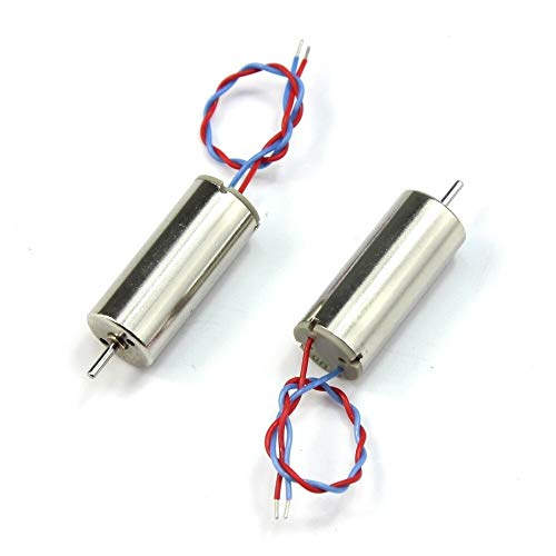 HUANRUOBAIHUO 2S 7.4V 8520 Upgraded 8.5x20mm Mini Coreless Motor CW CCW for doe Tiny QX90 95 LT105 Micro Indoor Race Quadcopter F19124-2 / ​​5 Motor onderdelen (Bundle : 2pcs CCW)
