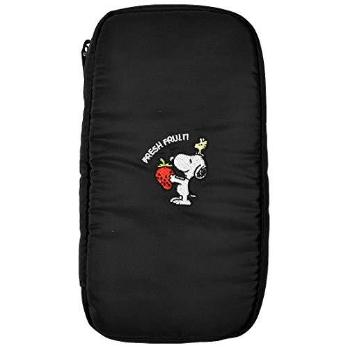ペンケース スヌーピー 大容量 シンプル 可愛い 大人 筆箱 マルチケース 小物入れ SNOOPY ポーチ 黒 ブラック ピーナッツ PEANUTS ペンポーチ