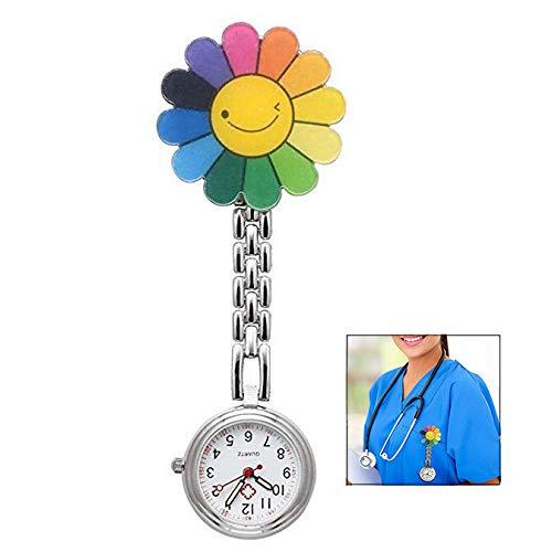 LHKJ Reloj Médico de Bolsillo Colgante Enfermera, Médico Reloj de Bolsillo de Cuarzo con Broche para Colgar, para Hombres y Mujeres Médico Enfermeras para médico