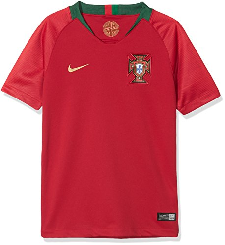 Nike Kinder Portugal Stadium Home T-Shirt, Gym Red, S