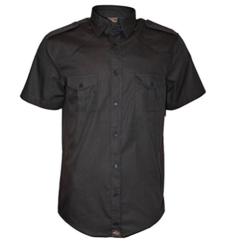 ROCK-IT Apparel® Camisa de Hombre de Manga Corta Camisa de