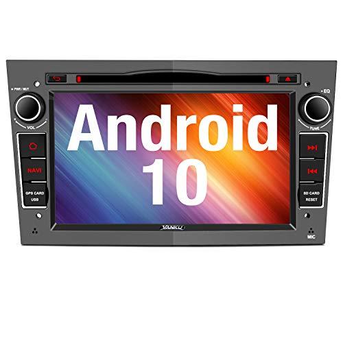 Vanku Android 10 Autoradio für Opel Corsa Astra Radio mit Navi DVD Player Unterstützt Bluetooth 5.0 DAB+ WiFi 4G USB CD MicroSD 7 Zoll Bildschrim Grau