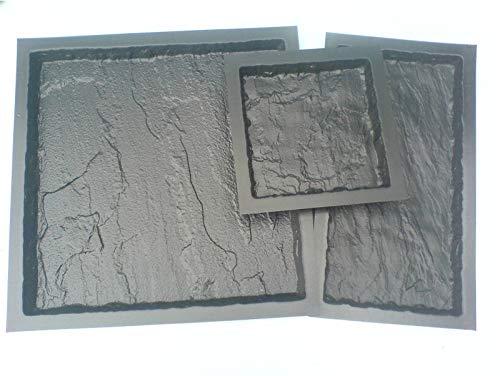 Plastic Mouldings Northern Ltd COMPLETE SET 3 OLD YORK MOULDS - 600x600, 600x300, 300x300 SLAB PAVING MOULD 3MM ABS
