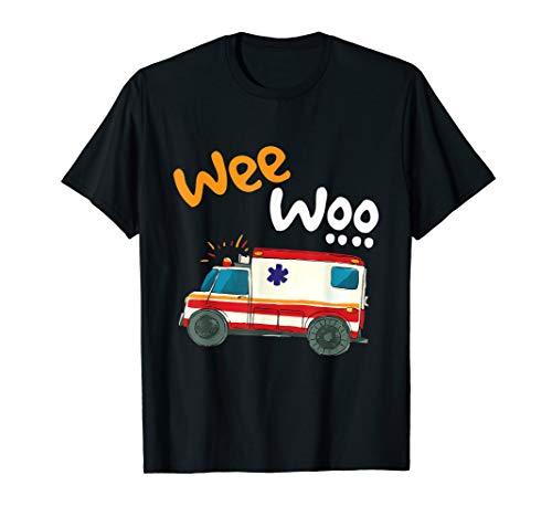 Wee Woo EMT Paramedic Ambulance First Responders Funny Medic T-Shirt