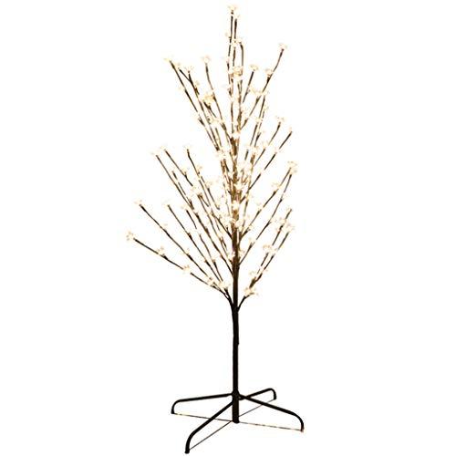 Arbre de Noël blanc et chaud de 1,2 m avec éclairage à DEL à fleurs de cerisier à couleur contrôlée (Color : White light)