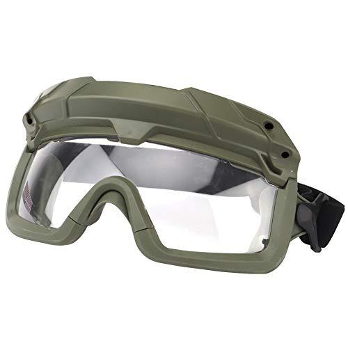 Huntvp Taktische Schutzbrille Militär Brille Tactical Goggles Klar Winddicht fürHerren Damen Paintball Airsoft Softair CS Spiel Cosplay Sport Outdoor, Grün