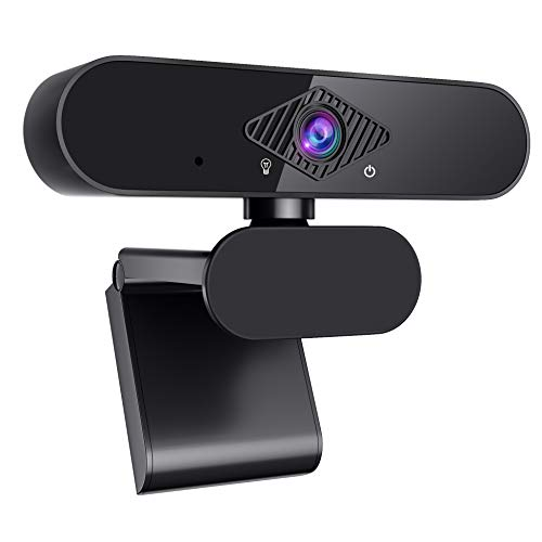 Webcam with Microphone for PC, Full HD 1080P Webcam USB Web Camera for Desktop & Laptop with 360° Rotating Base, Plug and Play Web Camera for Streaming, Youtube, Video Calling, Studying, Conference