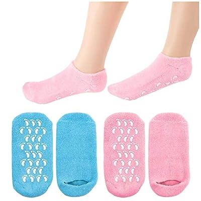 adakel Paar Feuchtigkeitsspendende Gel-Socken