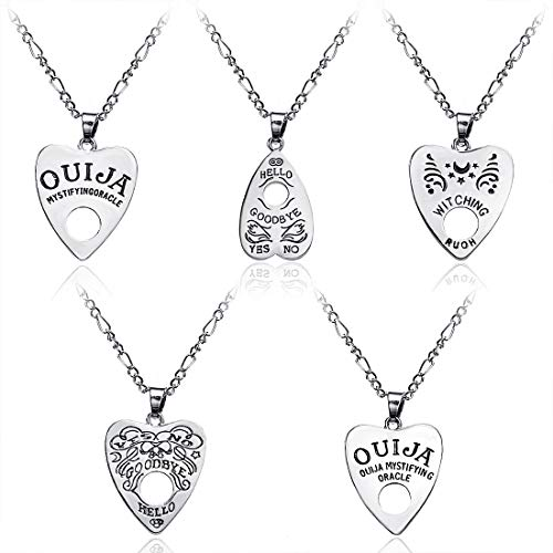 Chamqueen Ouija Board Pendant Necklace Set Pendant Necklace Ouija Board Planchette Alloy Love Pendant Necklace Set Women Necklaces 01