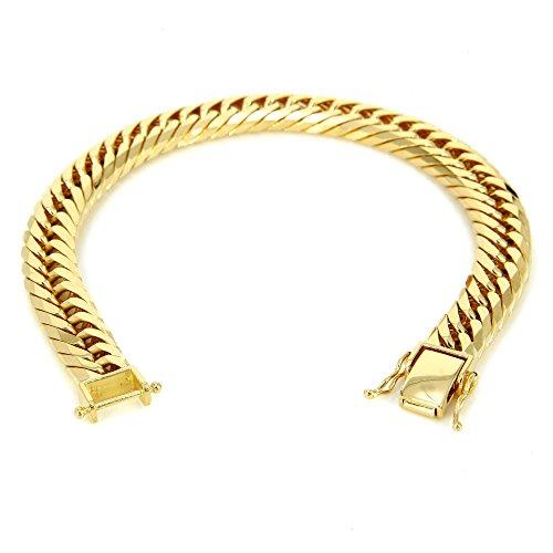 K18 金 喜平 ブレスレット 8面トリプル カット 50g 20cm 中折れ式金具