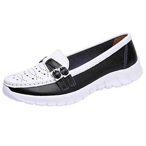 Masoness Frauen Casual Wild Criss Cross Strappy Aushöhlen Farbblock Bequeme Erbsen Schuhe Einzelne Schuhe Faule Schuhe