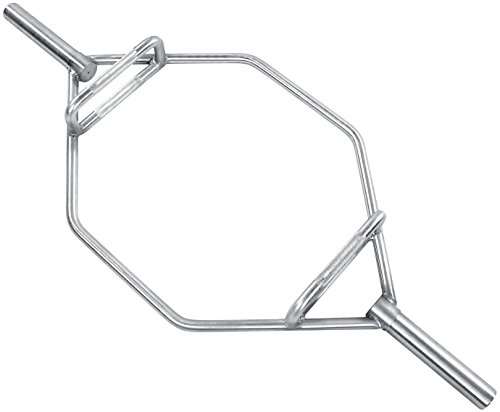 HulkFit Olympic 2-Inch Hex Weight Lifting Trap Bar, 1000-Pound Capacity - Regular (Chrome)