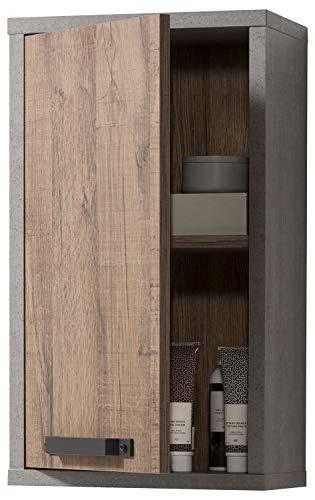 Wandschrank Badezimmerschrank Hängeschrank | Dekor | Betonoptik | Aged Oak