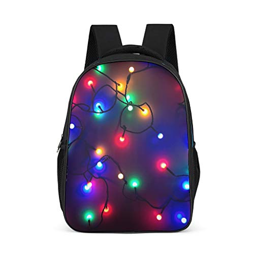 Rucksack mit leuchtendem Kugel-Design, wasserdicht, Tagesrucksack, College-Tasche für Jugendliche und Kleinkinder, - Hellgrau. - Größe: Einheitsgröße