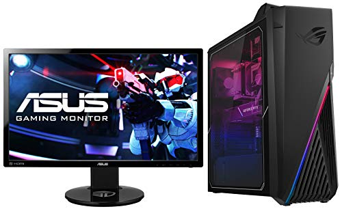 ASUS ROG Strix GT15 Intel Core i7 10700 10th Gen Gaming Dekstop (16GB RAM/1TB HDD + 512GB NVMe SSD/Windows 10/6GB NVIDIA GeForce GTX 1660Ti/with Keyboard & Mouse), G15CK-IN029T and Monitor Combo