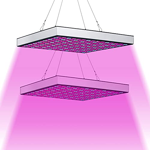 Hengda 2 Stück LED Pflanzenlampe 45W Pflanzenleuchte 225 LEDs für Gewächshaus, Red Blue Voll Spektrum Pflanzenlicht für Sämling, Garten, Blumen, Innengarten Grow Lampe