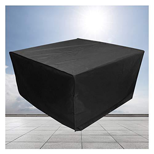 LITINGFC-Garden Furniture Cover,Heavy Duty Waterproof Oxford Fabric Patio Table Waterproof Cover,Windproof Moisture-proof Patio Furniture Covers (Color : Black, Size : 200x160x70cm)