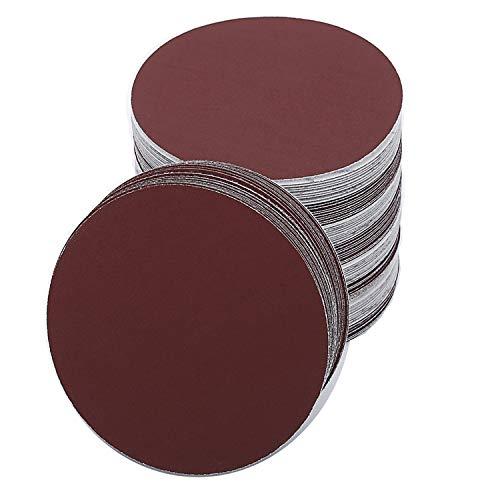 Schleifscheiben für Schleifer, rund, 180 mm, Körnung 60/80/120/180/240/400, Klettverschluss, 30 Stück