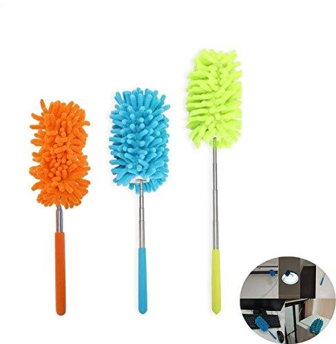 Ztent - Plumero de microfibra lavable de microfibra extensible, plumero de microfibra para limpieza de manos y plumero de mano para el hogar, oficina, coche, ordenador