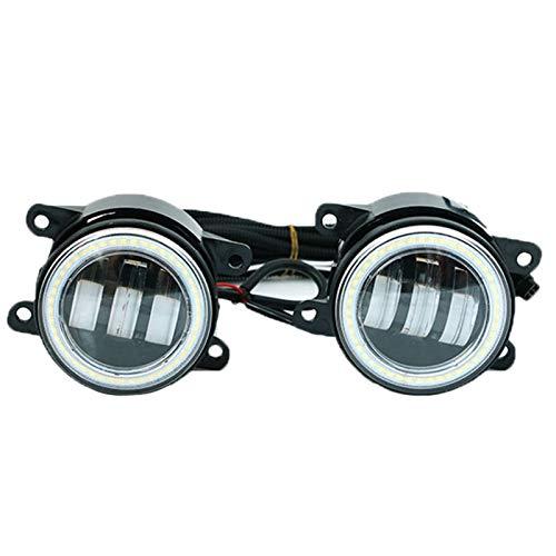 Fransande 3 en 1 LED paragolpes delanteros antiniebla, ojos de ángel, luz...