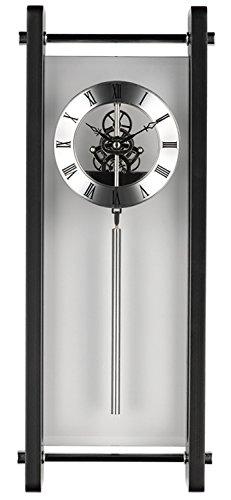 Krippl-Watches Pendeluhr Glas, mit Quarz-Uhrwerk, Farbe:weiß