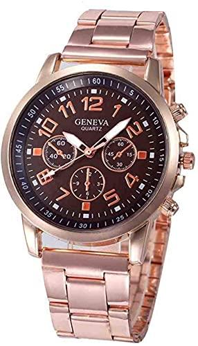 JZDH Mano Reloj Reloj de Pulsera Rose Gold FashionLuxury Luxury Women Quarz Relojes Damas Vestido Vestido de Acero Inoxidable Relojes de Pulsera Regalos Reloj Relogiono Relojes Decorativos Casuales