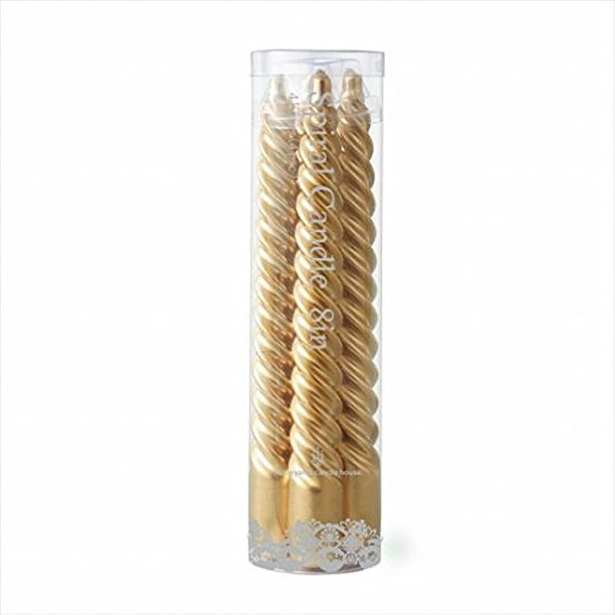 仕事忘れられない分散カメヤマキャンドル(kameyama candle) 8インチスパイラル4本入り 「 ゴールド 」6箱セット