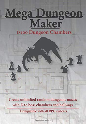 Mega Dungeon Maker: D100 Dungeon Chambers for Fantasy Roleplaying Games (RPG) DnD 5e and more
