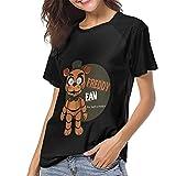 DCEGasc Five Nights at Freddy Freddy - Camiseta de béisbol con cuello redondo y manga corta para mujer