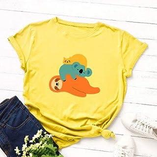 PAND Women T-Shirt Cute Cat Basic Topscotton Tees New Summer Animal Cartoon Print T Shirt